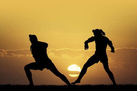 duel: Thai boxer