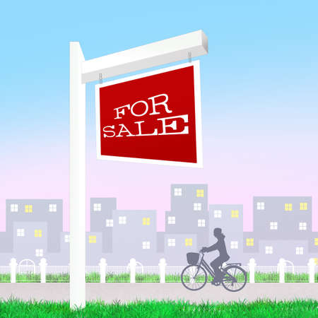 homes for sale: home for sale Stock Photo