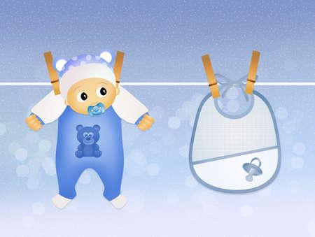 baby hanging photo