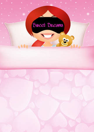 pyjama: sweet dreams Stock Photo