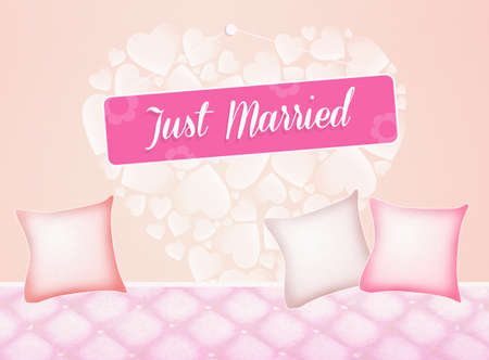 marriage bed: Just Married