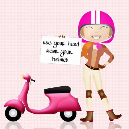 head wear: use your head, wear your helmet Stock Photo