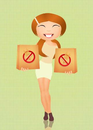 celiac: celiac girl Stock Photo