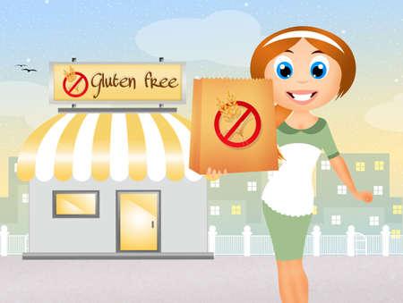 celiac: shop for celiac Stock Photo