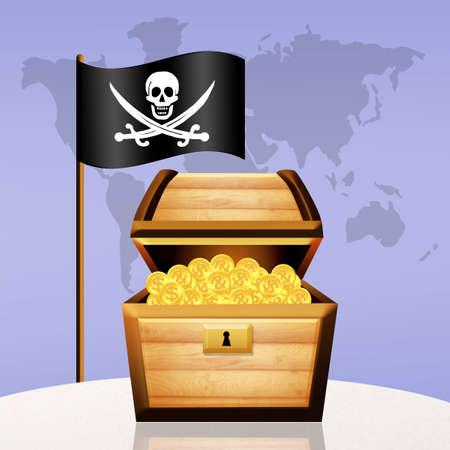 booty pirate: treasure chest