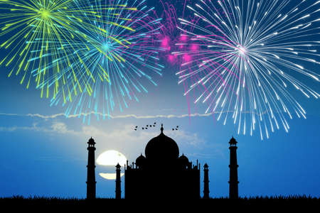 fireworks 'hope fireworks: fireworks in the taj mahal