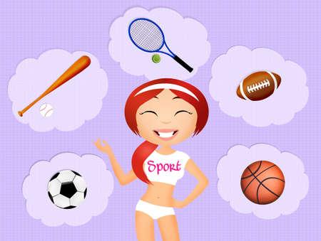 sporty: sporty girl