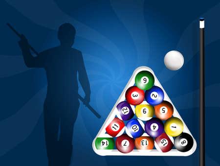 billiards: illustration of billiards