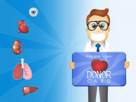 organ donation: donor card