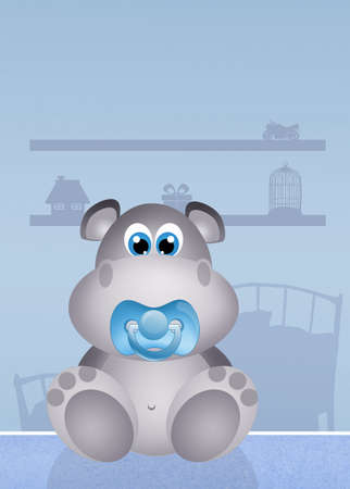 adoptive: baby hippo