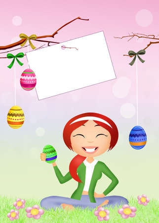 Easter chocolate eggs decoration photo