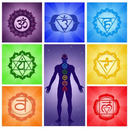 Seven Chakras collage photo