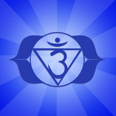 kriya: Eye Chakra Stock Photo