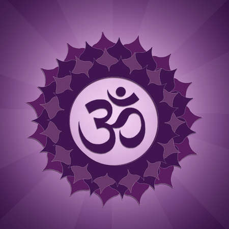 kriya: Crown Chakra Stock Photo