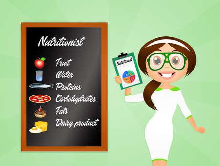 Voedingsdeskundige Stockfoto