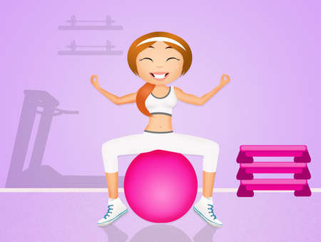 step fitness: girl doing pilates