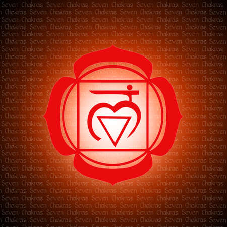 swadhisthana: root chakra Stock Photo