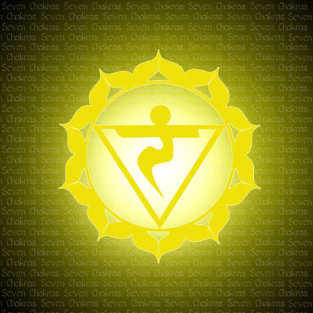 anahata: solar chakra Stock Photo