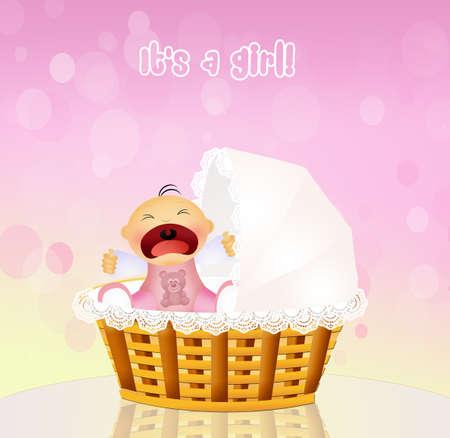 cries: baby cries Stock Photo