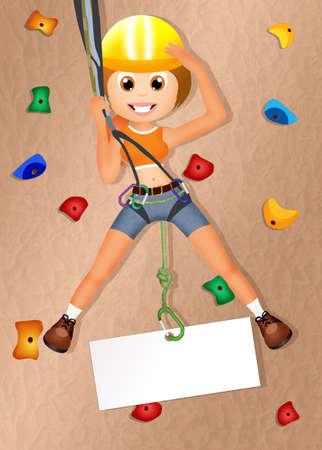 rock climbing: rock climbing