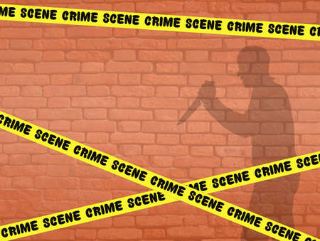 homicide: illustration of crime scene