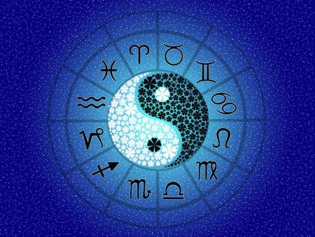 water birth: Horoscope zodiac signs Stock Photo