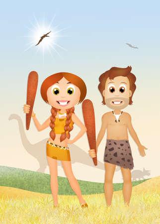 origins: prehistoric couple