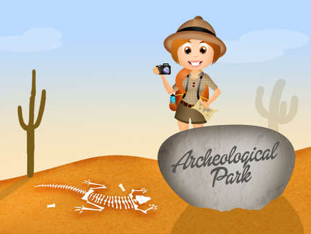 paleontologist: Archeological park