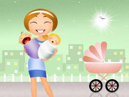 babysitter: babysitter with babies
