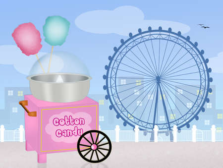 cotton candy: cotton candy in the amusement park