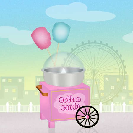 cotton candy: cotton candy cart