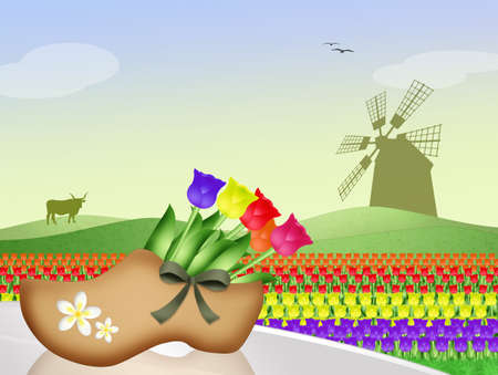 windmill: windmill in Dutch landscape