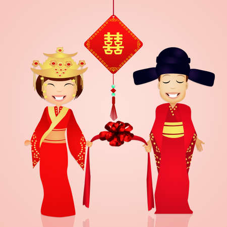 life event: Chinese marriage Stock Photo