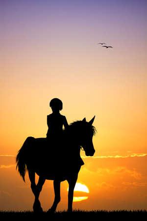 zooth�rapie: enfant � cheval