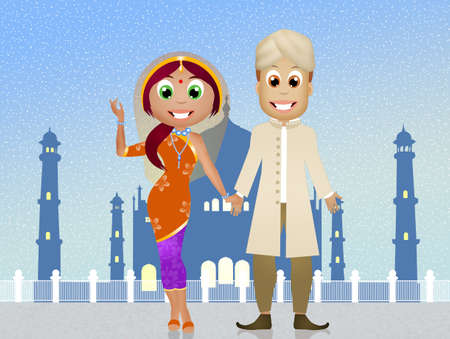 life event: Indian couple