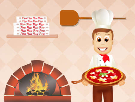pizza man: man with pizza