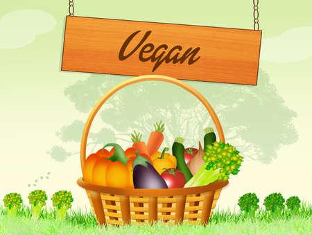 vegan: vegan food Stock Photo