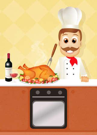 roast turkey: roast turkey Stock Photo