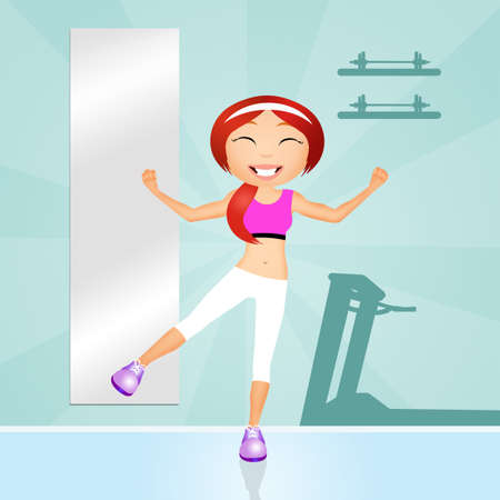 aerobic: aerobic workout Stock Photo