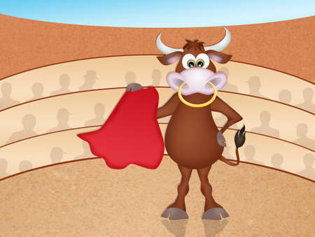 bullfight: bull in the bullfight