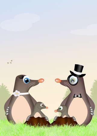 animal den: family moles