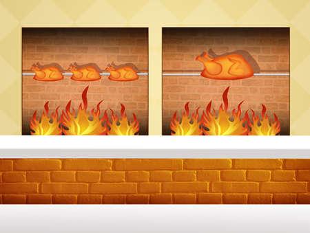 pollo rostizado: asador