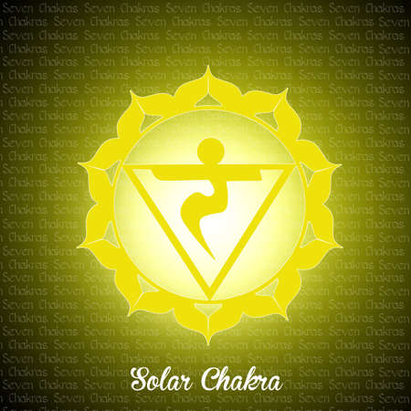 swadhisthana: solar chakra Stock Photo