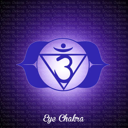swadhisthana: eye chakra Stock Photo