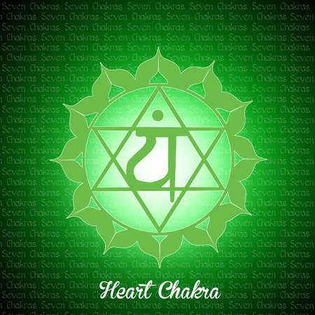 spiritual energy: heart chakra Stock Photo