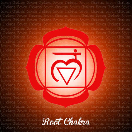 chakra: root chakra Stock Photo