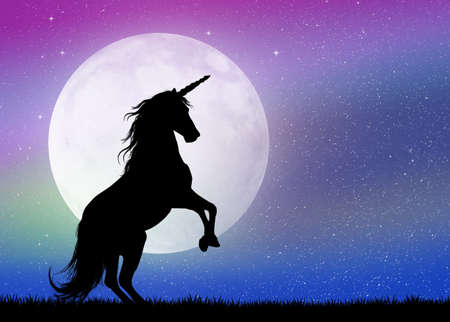 unicorn in the moonlight