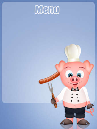 pigsty: funny menu Stock Photo