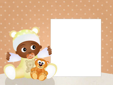 adoptive: baby black Stock Photo