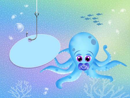 water birth: baby octopus